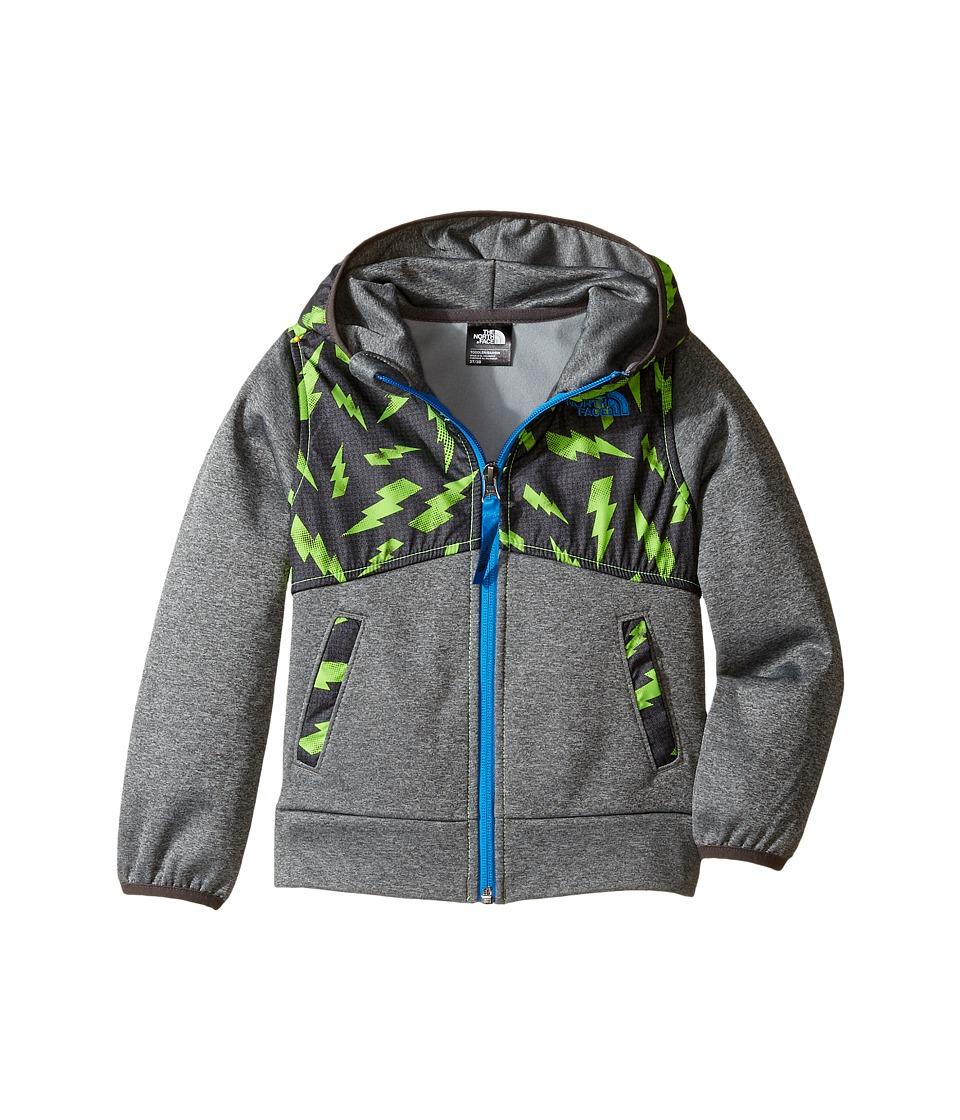 The North Face Kids - Kickin It Hoodie (Toddler) (Pwr Grn Bolt Prnt/TNF Med Grey Heather/Clr Lake Bl -Prior Season) Boy's Sweatshirt