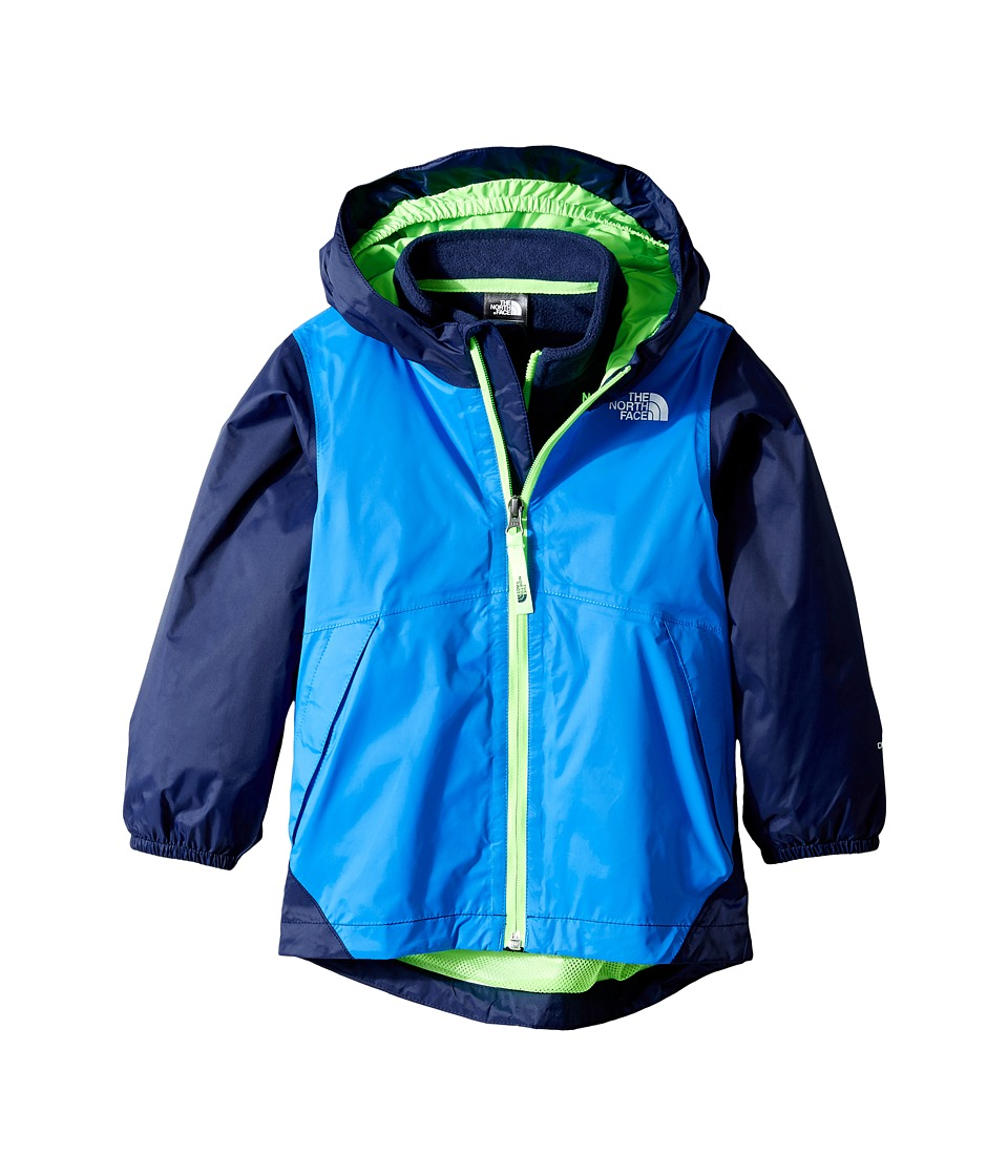 The North Face Kids - Stormy Rain Triclimate(r) Jacket (Toddler) (Clear Lake Blue/Cosmic Blue/Power Green -Prior Season) Boy's Coat