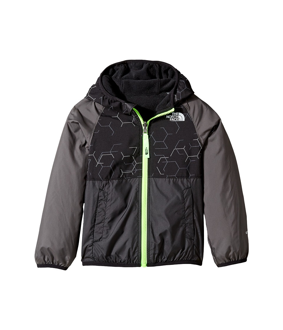 The North Face Kids - Reversible Breezeway Wind Jacket (Toddler) (TNF Black/Graphite Grey/Power Green -Prior Season) Boy's Coat