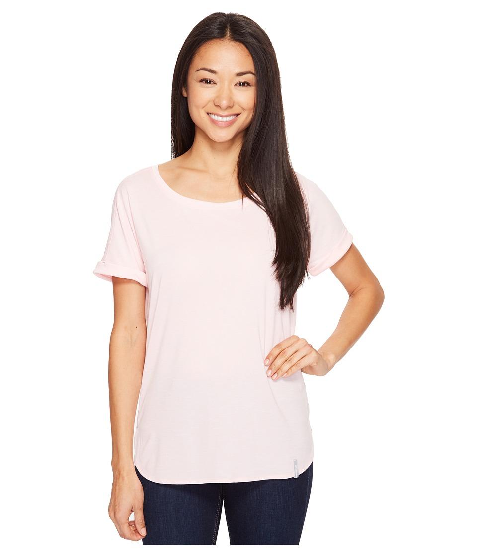Columbia - Crystal Point Short Sleeve Shirt (Cherry Blossom Heather) Women's Short Sleeve Pullover