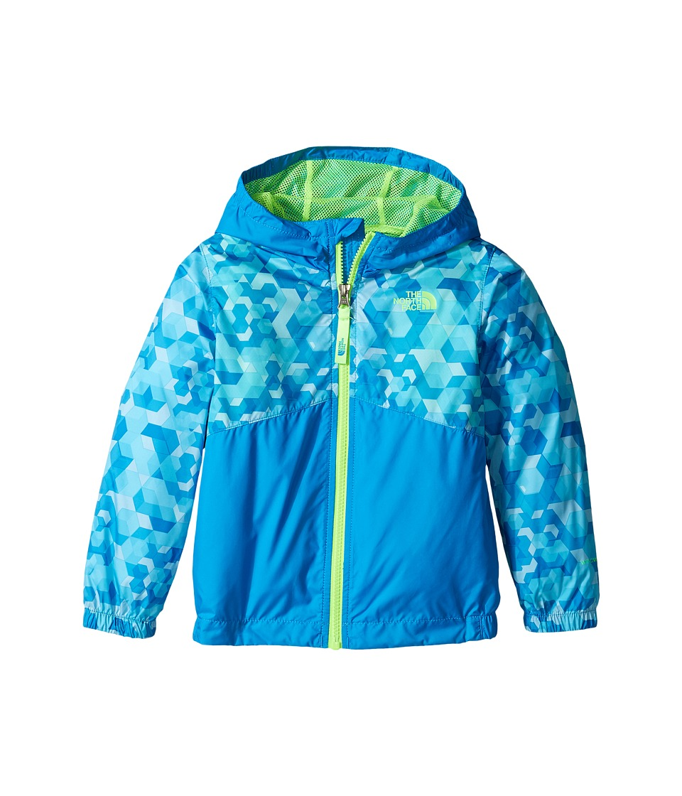 The North Face Kids - Flurry Wind Hoodie (Toddler) (Cascade Blue Geo Block Print/Power Green -Prior Season) Boy's Sweatshirt