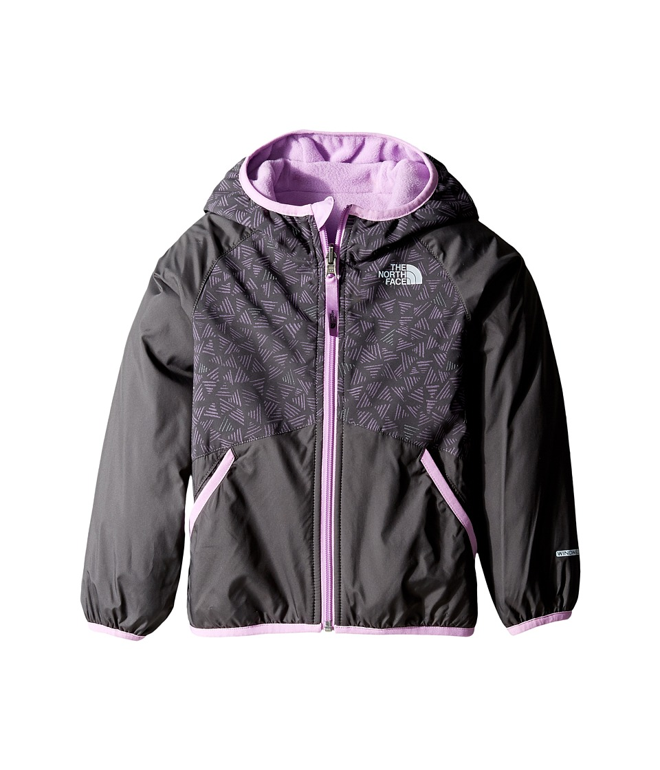 The North Face Kids - Reversible Breezeway Wind Jacket (Toddler) (Graphite Grey -Prior Season) Girl's Coat