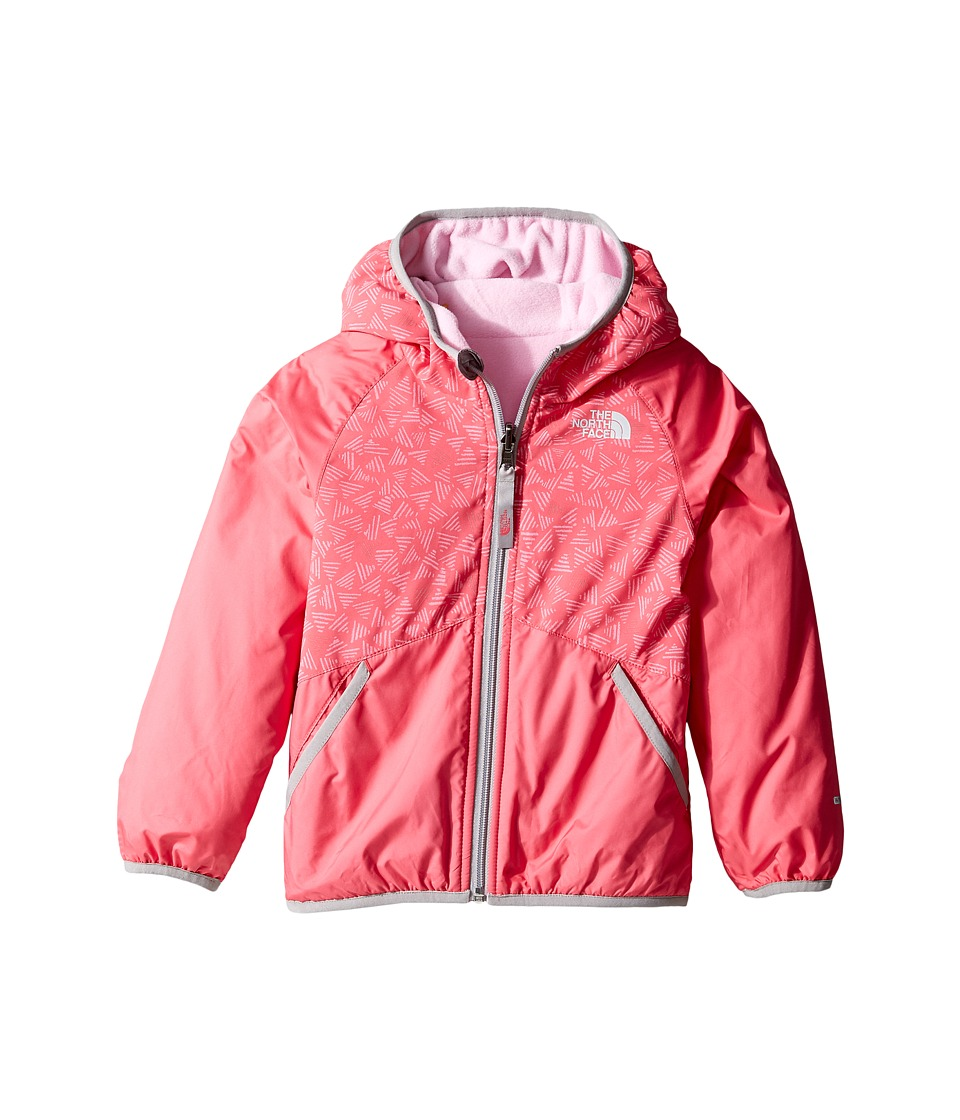 The North Face Kids - Reversible Breezeway Wind Jacket (Toddler) (Honeysuckle Pink Doodle/Metallic Silver -Prior Season) Girl's Coat