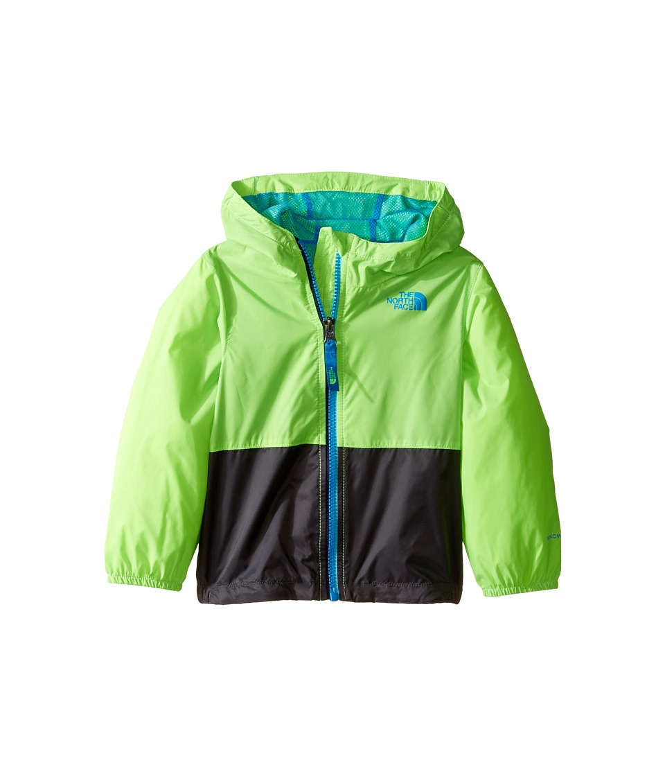 The North Face Kids - Flurry Wind Hoodie (Infant) (Power Green/Graphite Grey -Prior Season) Kid's Coat