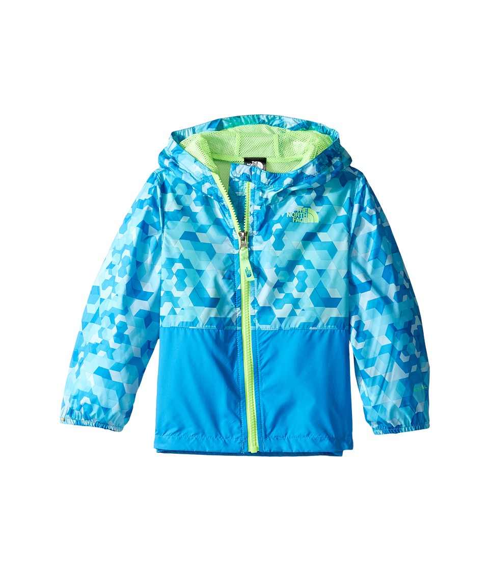 The North Face Kids - Flurry Wind Hoodie (Infant) (Cascade Blue Geo Print/Clear Lake Blue/Power Green -Prior Season) Kid's Coat