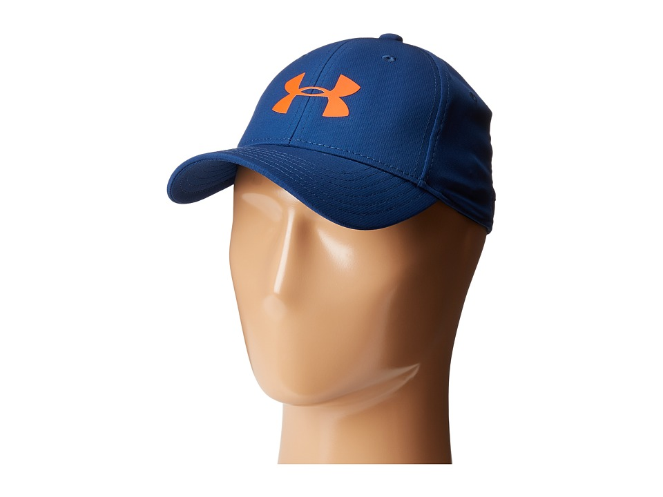Under Armour - UA Storm Headline Cap (Youth) (Blackout Navy/White/Dark Orange) Caps