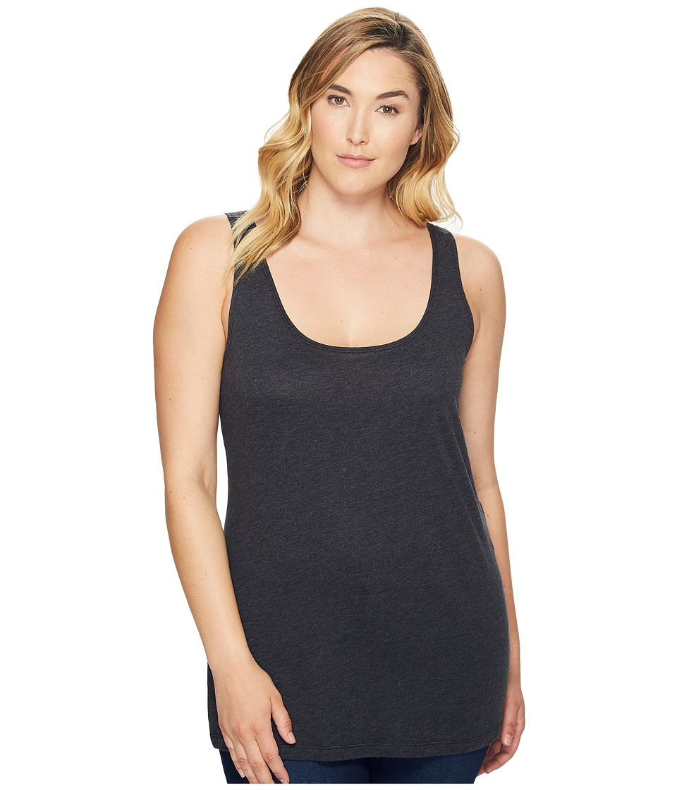 Columbia - Plus Size Radiant Glow Tank Top (Black Heather) Women's Sleeveless