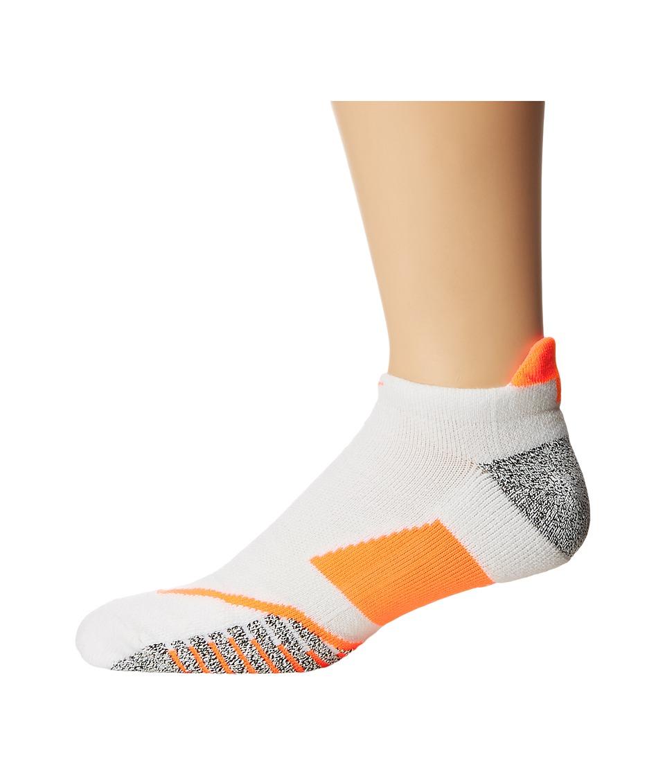 Nike NIKEGRIP Elite No Show Tennis Socks (White/Hyper Orange/Hyper Orange) No Show Socks Shoes