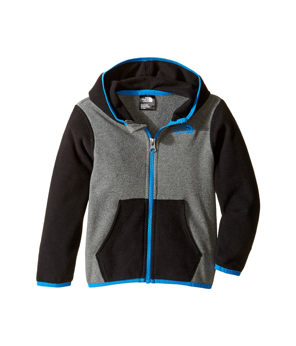 The North Face Kids - Glacier Full Zip Hoodie (Infant) (TNF Medium Grey Heather/TNF Black -Prior Season) Girl's Sweatshirt