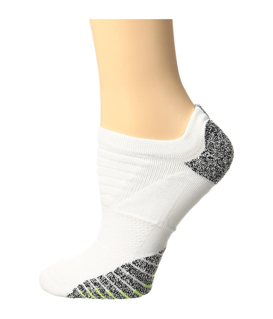Nike NIKEGRIP Lightweight No Show Training Socks (White/Black/Volt) Women