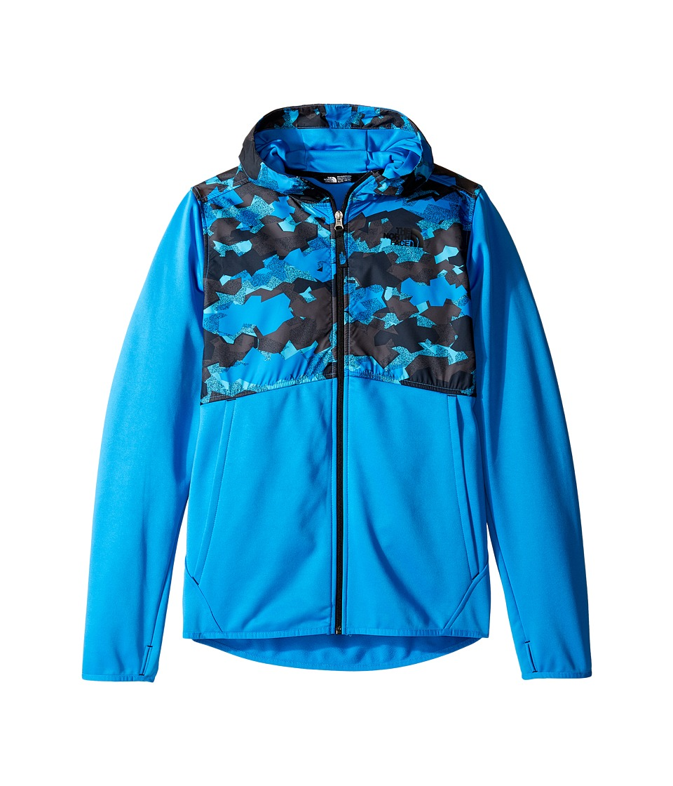 The North Face Kids - Kickin It Hoodie (Little Kids/Big Kids) (Clear Lake Blue Geo Plate Camo Print (Prior Season)) Boy's Sweatshirt