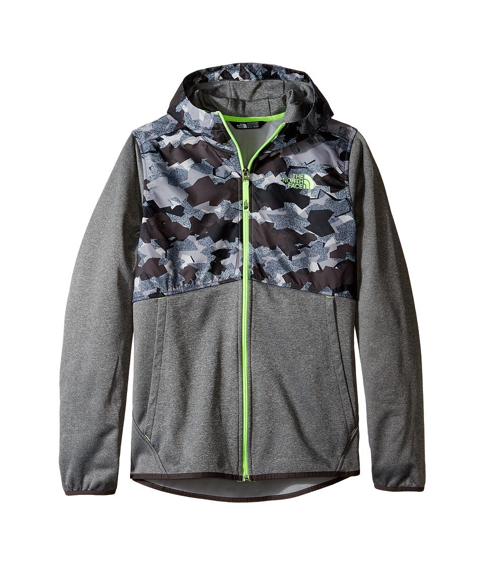The North Face Kids - Kickin It Hoodie (Little Kids/Big Kids) (Graphite Grey Geo Plate Camo Print (Prior Season)) Boy's Sweatshirt