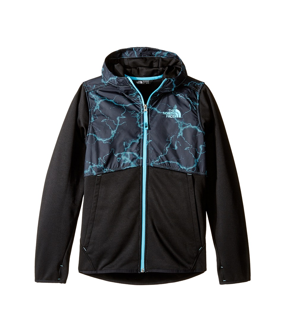 The North Face Kids - Kickin It Hoodie (Little Kids/Big Kids) (Cascade Blue/TNF Black (Prior Season)) Boy's Sweatshirt