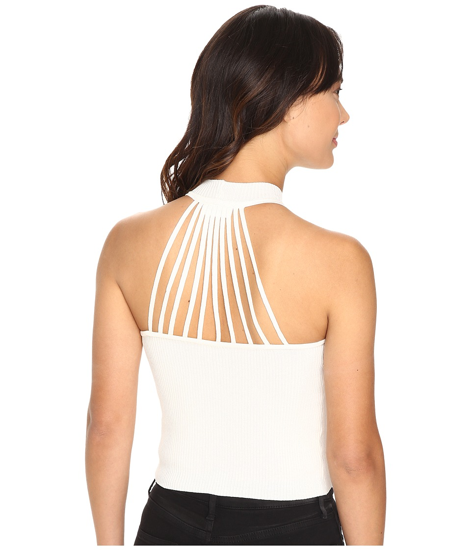 Brigitte Bailey - Lovelyn Crop Top with Back Detail (Ivory) Women's Clothing