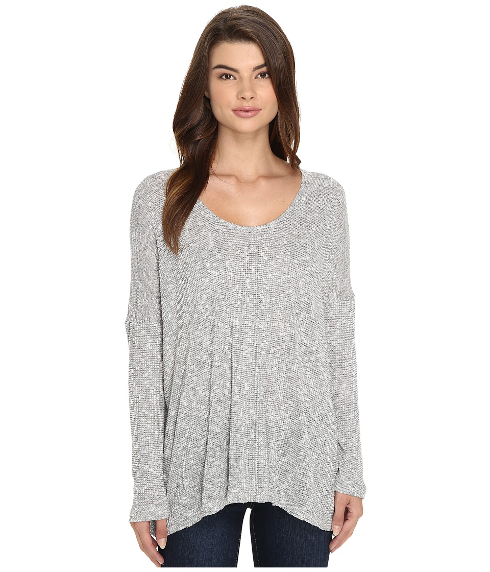 Culture Phit - Zula Round Neck Waffle Top (Heather Grey) Women's Clothing