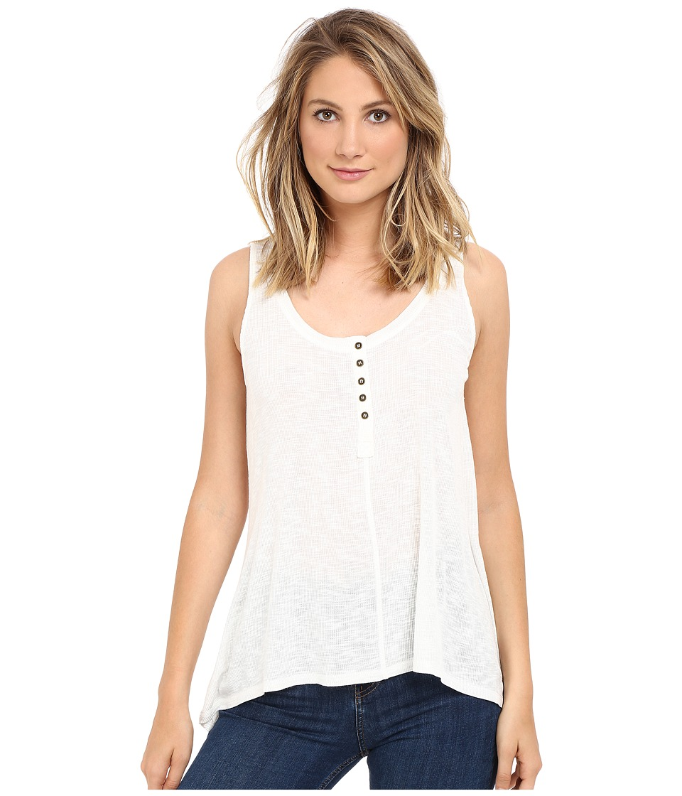 Culture Phit - Janis Sleeveless Tank Top with Buttons (Off-White) Women's Sleeveless