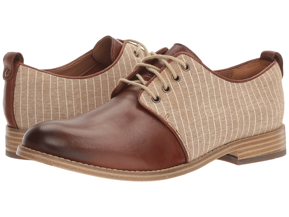Clarks - Zyris Toledo (Dark Tan Leather/Fabric Combi) Women's Shoes