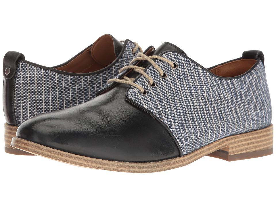 Clarks - Zyris Toledo (Navy Leather/Fabric Combi) Women's Shoes