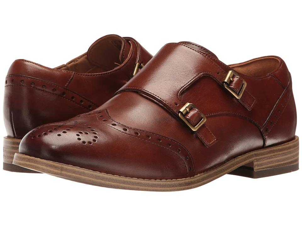 Clarks - Zyris Vienna (Dark Tan Leather) Women's Shoes