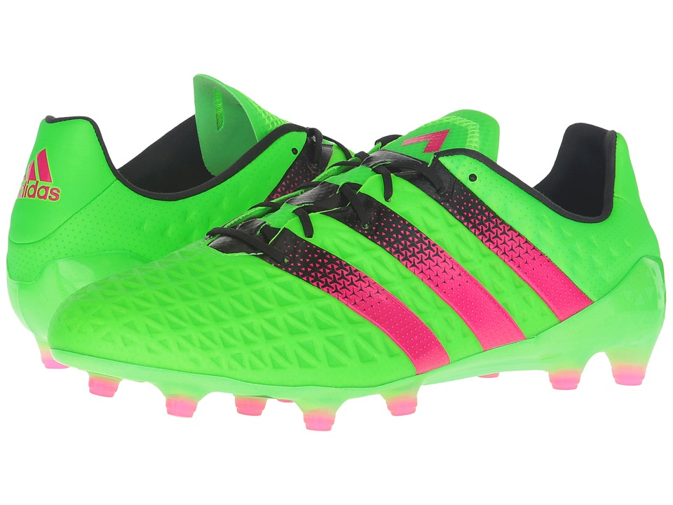 adidas - ACE 16.1 FG/AG (Solar Green/Shock Pink/Black) Men's Shoes