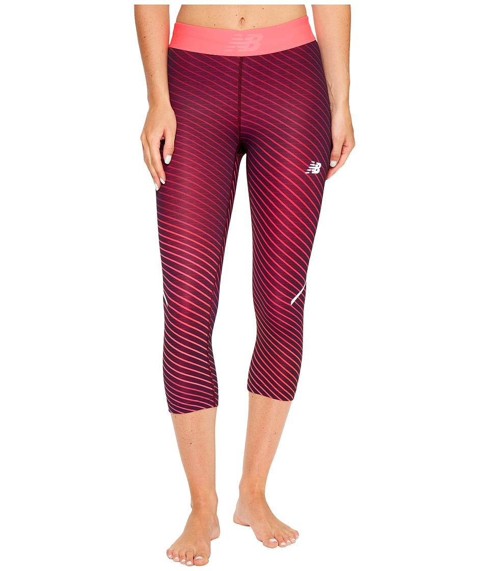 New Balance Printed Accelerate Capris (Outerspace Cosmic Stripe) Women