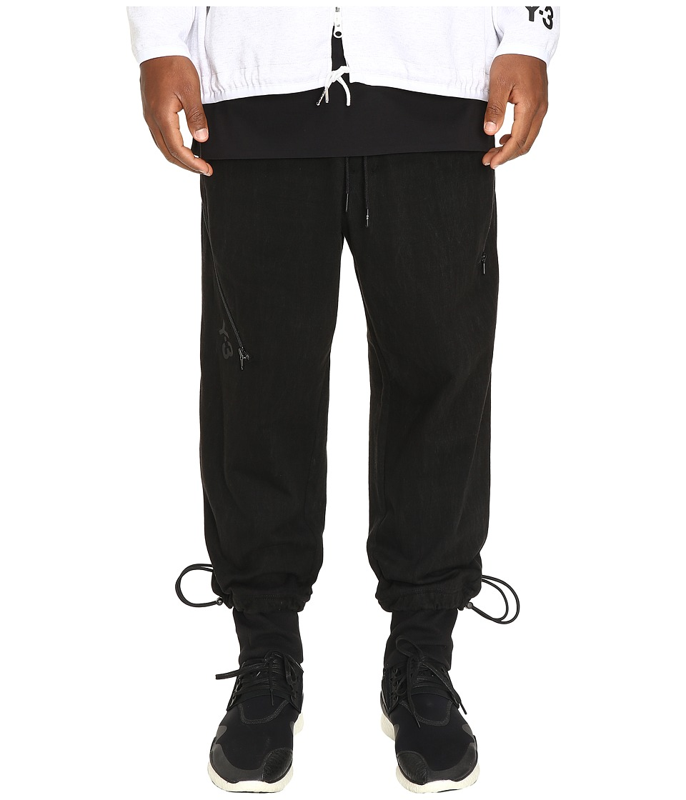 adidas Y-3 by Yohji Yamamoto - Grain Jersey Pants (Black) Men's Casual Pants