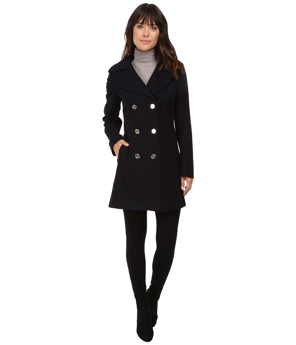 MICHAEL Michael Kors - Peacoat M122295T (Navy) Women's Coat