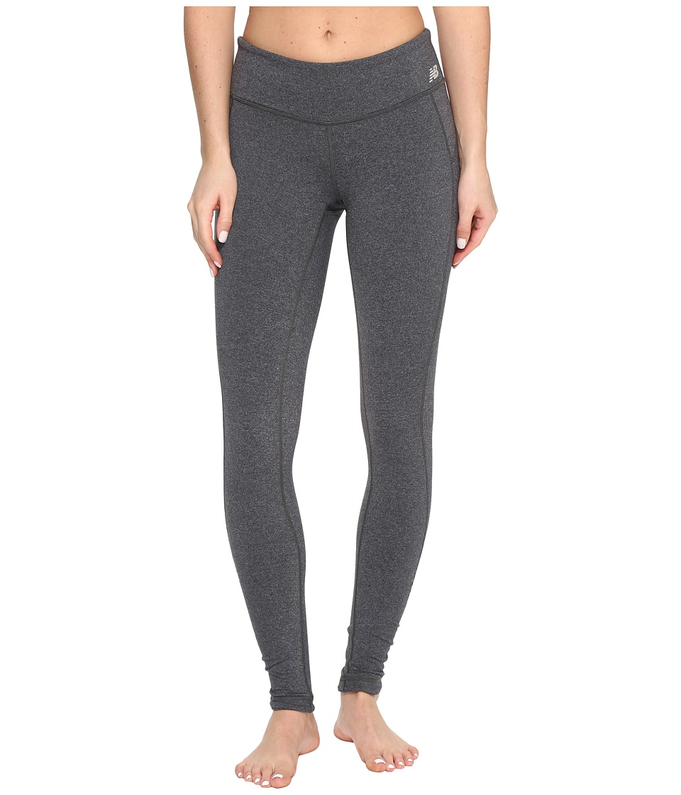 New Balance - Premium Performance Tights (Heather Charcoal) Women's Workout