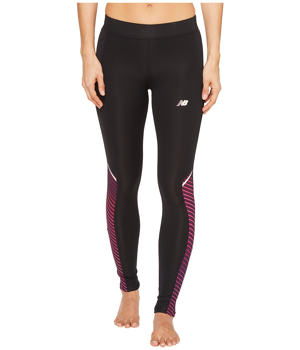 New Balance - Printed Accelerate Tights (Outerspace Cosmic Stripe) Women's Workout