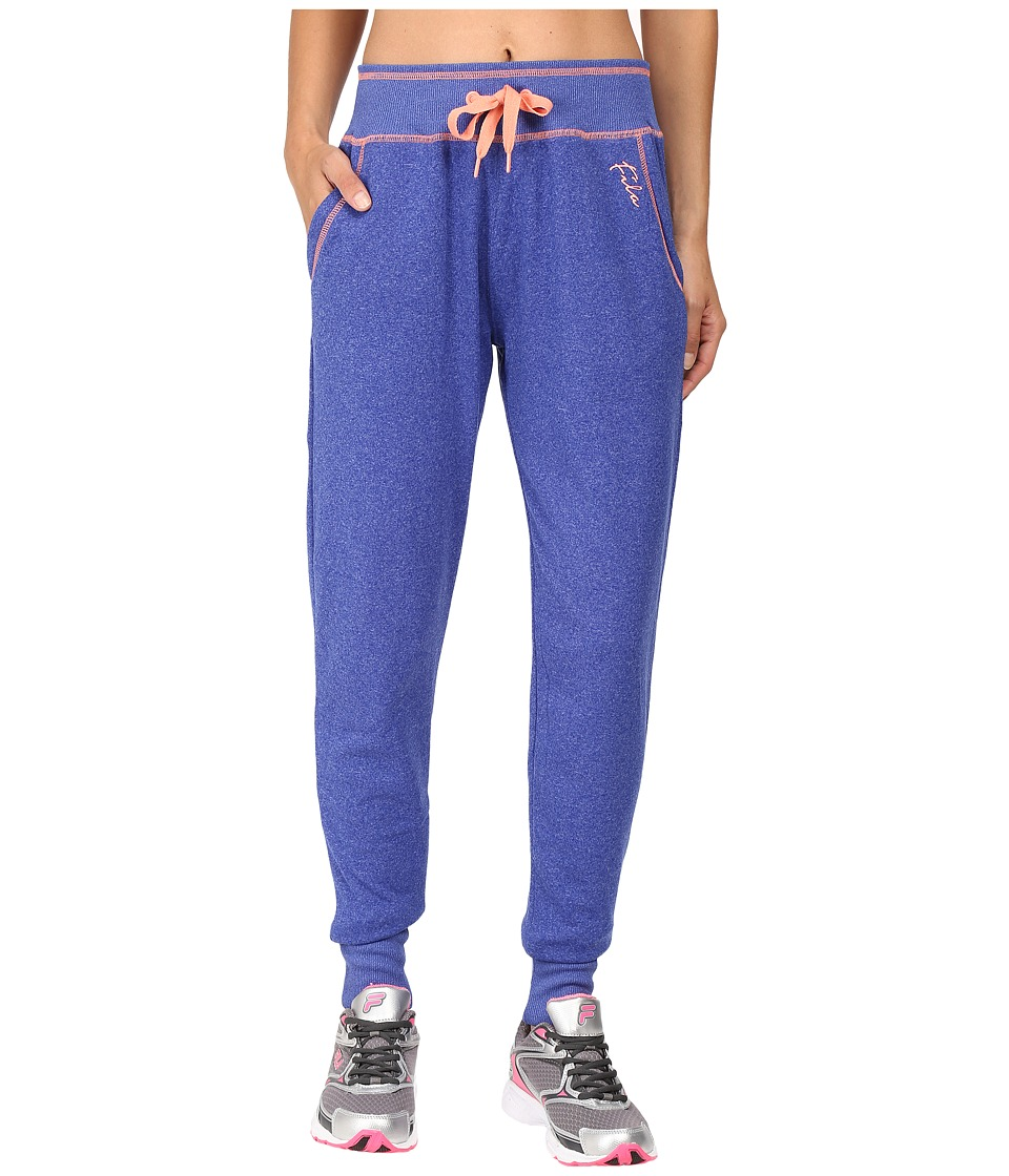 Fila - Tie Downy Fleece Pants (Atomic Blue/Spanish Peach) Women's Casual Pants