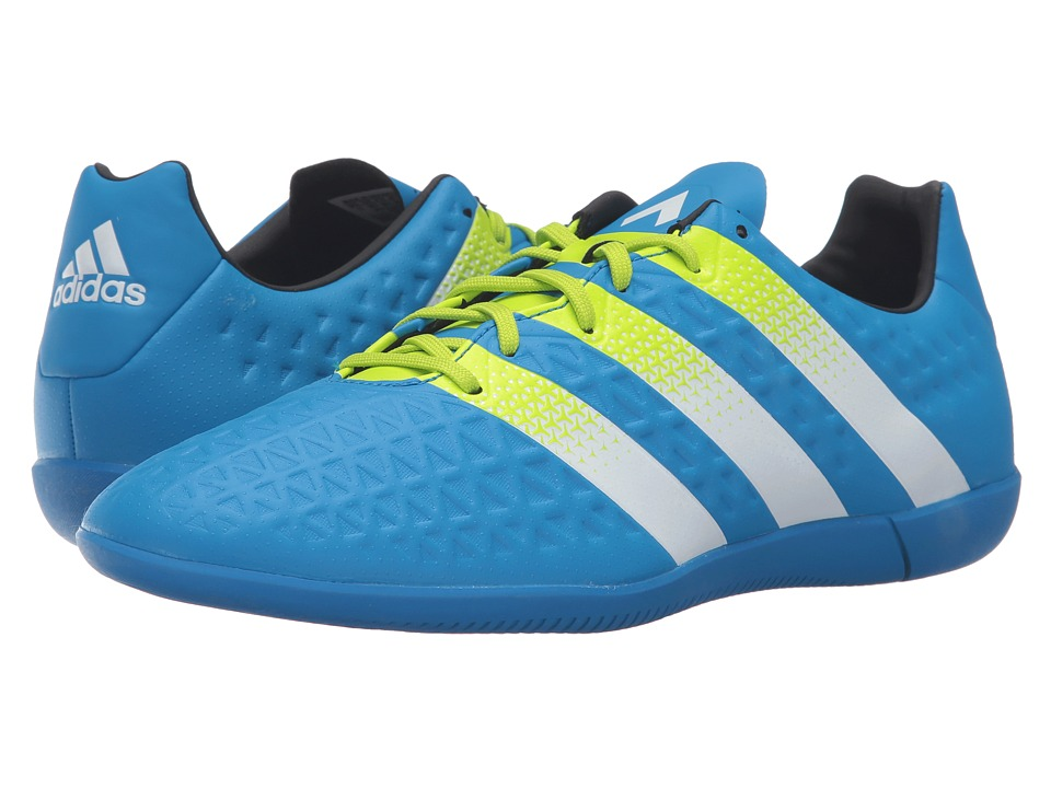 adidas - Ace 16.3 IN (Shock Blue/Solar Yellow/White) Men's Soccer Shoes