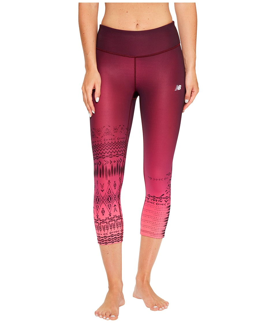 New Balance Fun Run Capris (Placed Block Stripes) Women