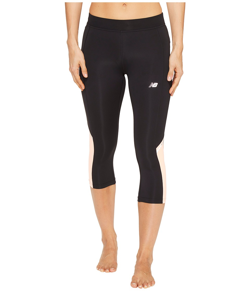 New Balance Accelerate Capris (Bleached Sunrise) Women