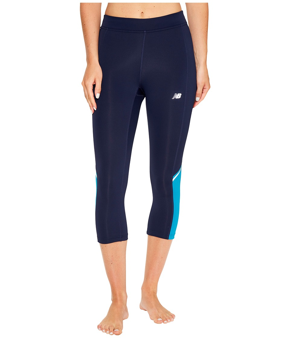 New Balance - Accelerate Capris (Deep Ozone Blue) Women's Capri