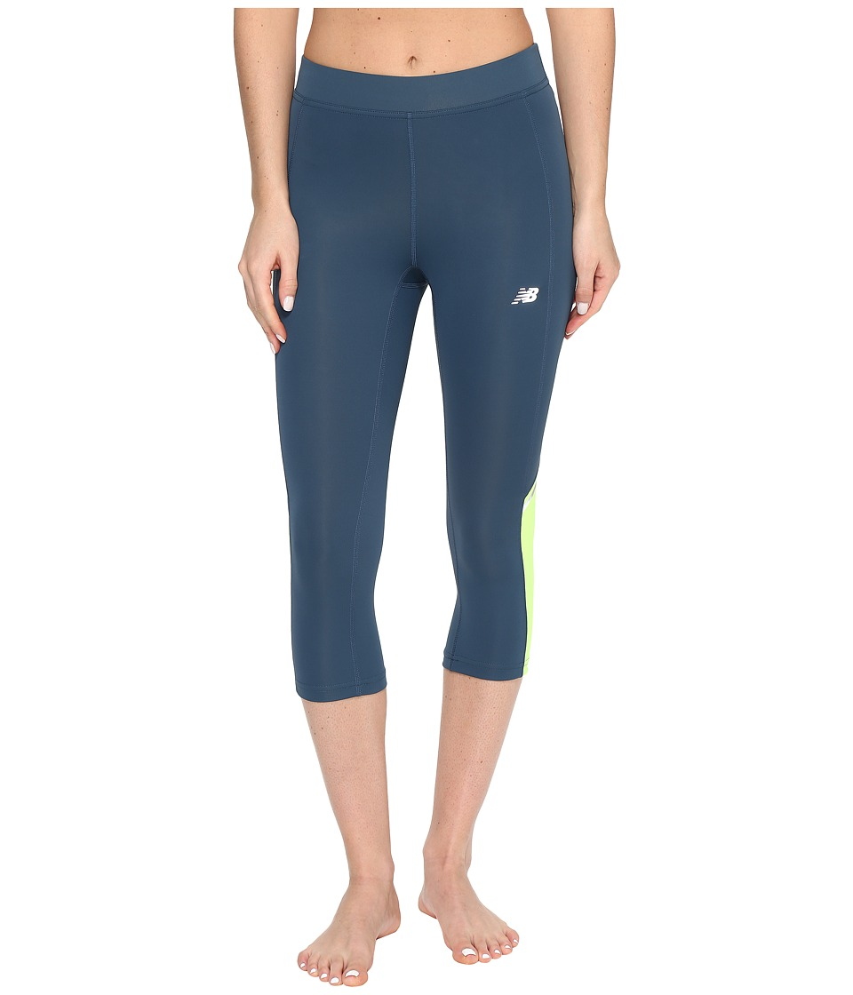 New Balance Accelerate Capris (Tornado) Women