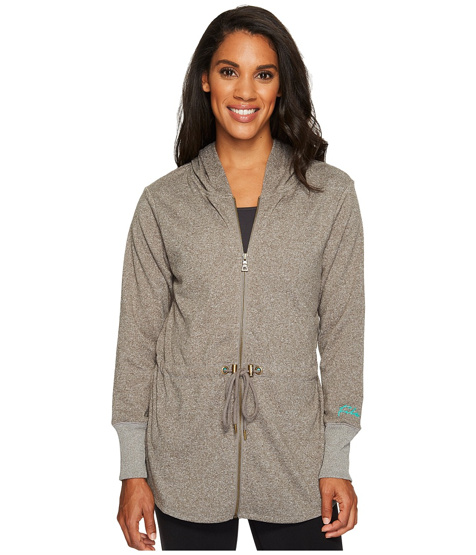 Fila - Getaway Jacket (Varsity Heather/Aqua Green) Women's Coat