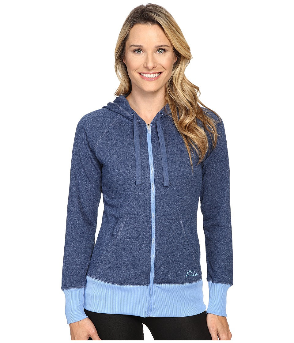 Fila - Slant It Hoodie (Estate Blue/Provence/Pink Panther) Women's Sweatshirt