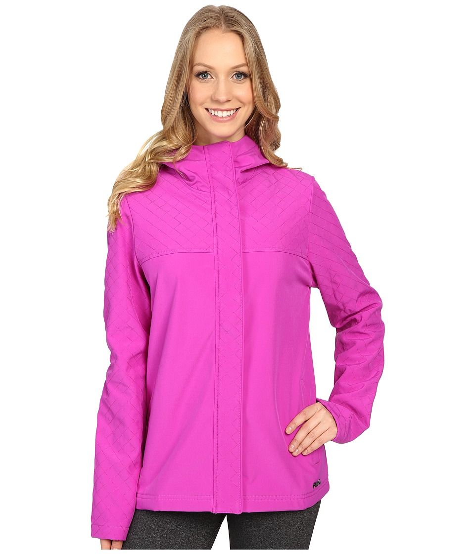 Fila - Bonded Together Jacket (Aubergine Purple/Atomick Blue) Women's Coat