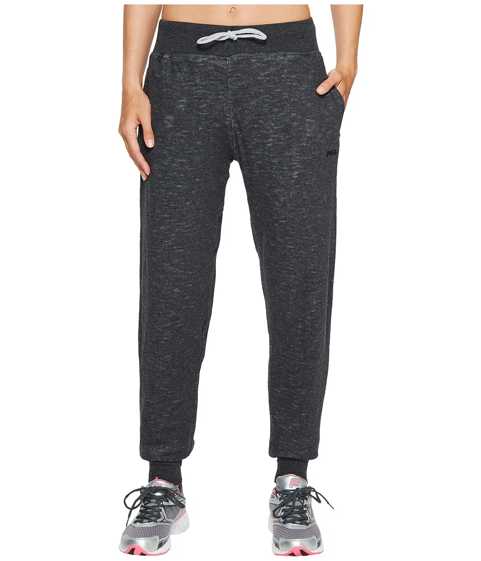 Fila - Lounge Around Pants (Black/Heather Grey/Heather Grey) Women's Casual Pants