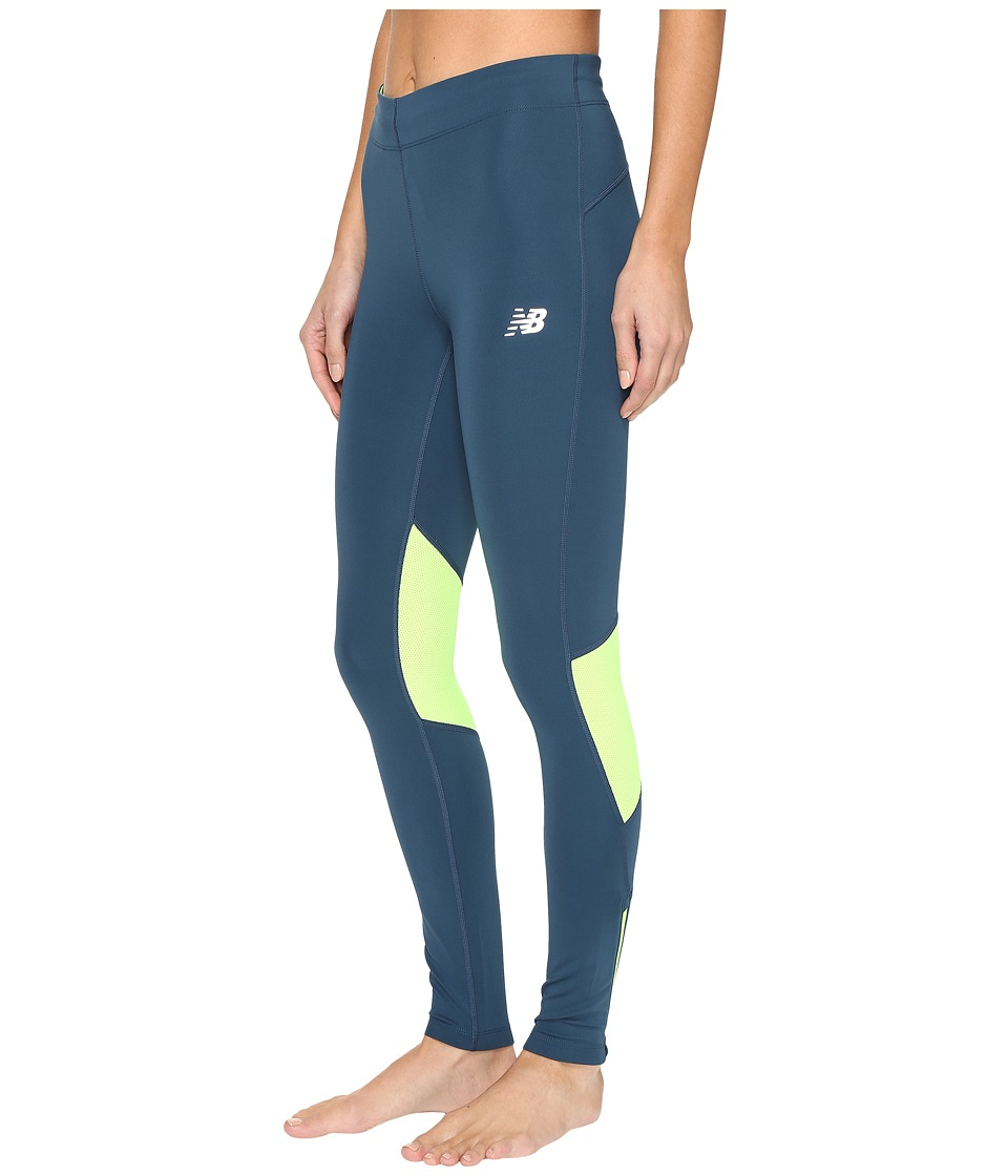 New Balance - Impact Tights (Tornado/Lime Glo) Women's Workout