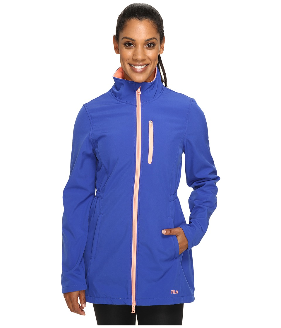 Fila - Get Wet Bonded Jacket (Atomic Blue/Spanish Peach) Women's Coat