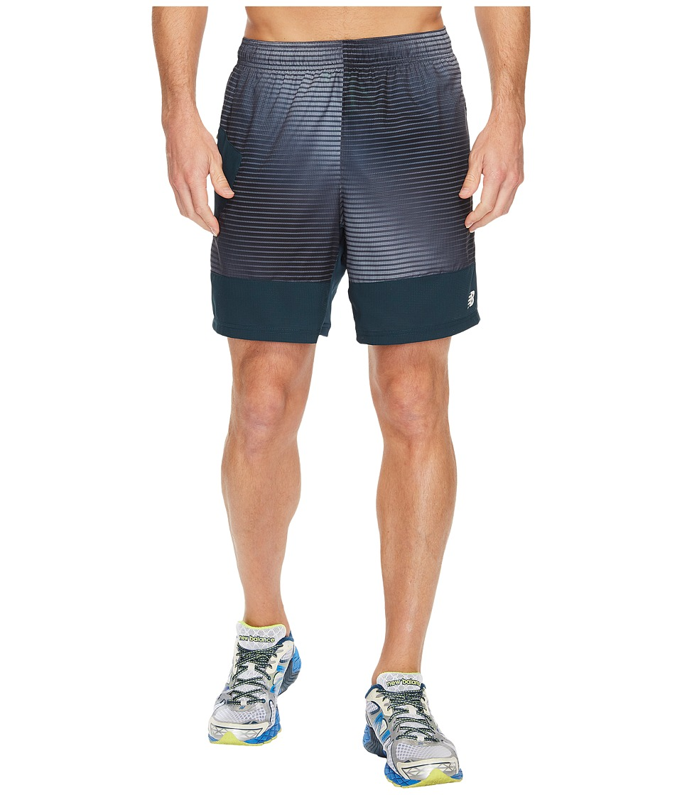 New Balance - Hybrid Tech Shorts (Black Print) Men's Shorts