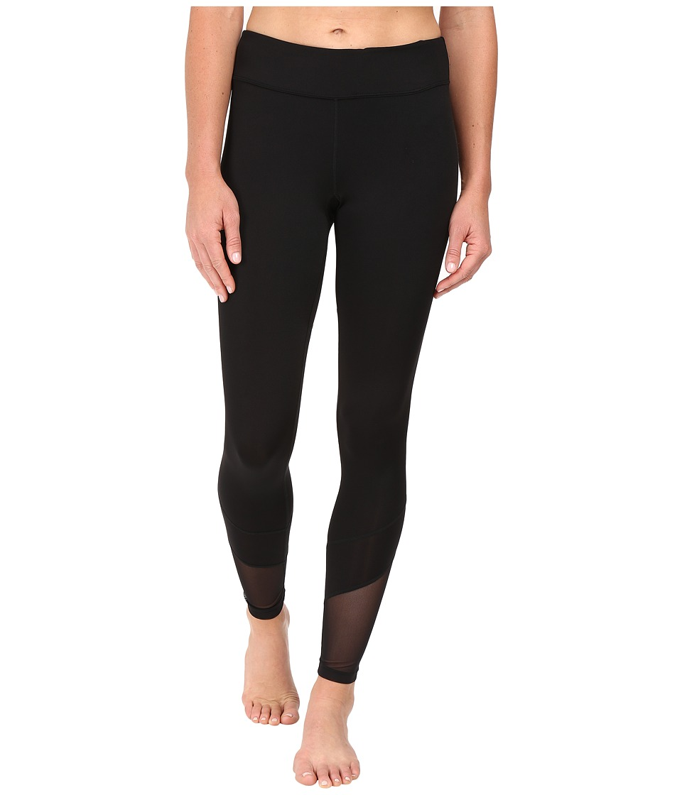Fila - Spirited Long Tights (Black/Black) Women's Casual Pants