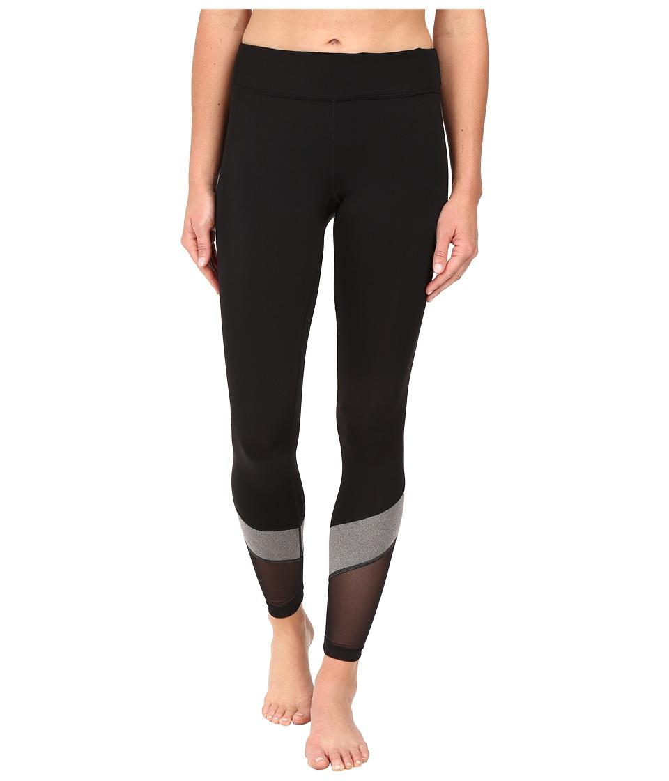 Fila - Spirited Long Tights (Black/Varsity Heather) Women's Casual Pants