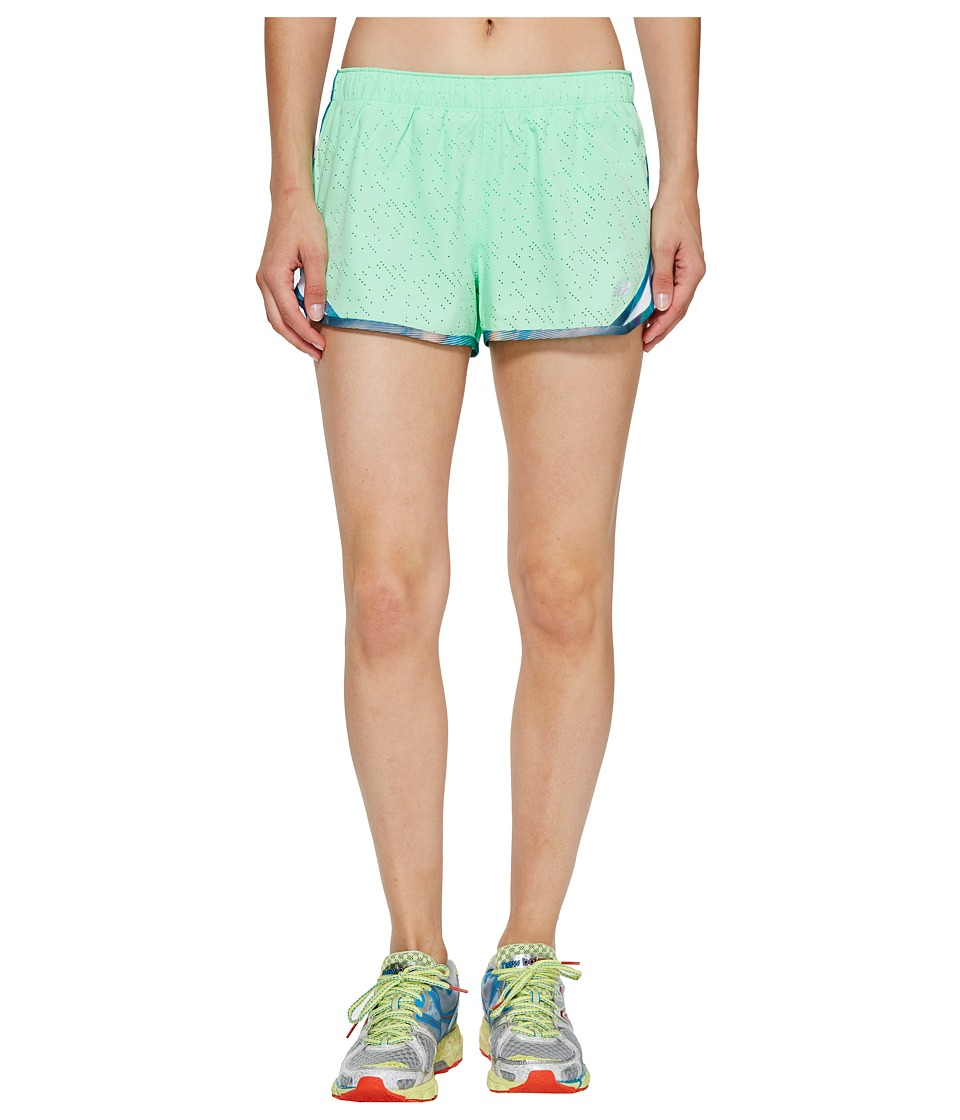 New Balance - Accelerate 2.5 Printed Shorts (Agave Green) Women's Shorts