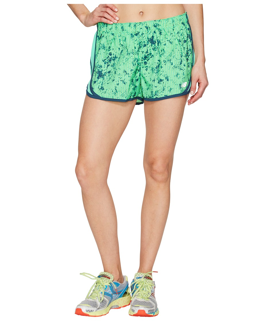 New Balance - Accelerate 2.5 Printed Shorts (Lime Glo Water Floral) Women's Shorts