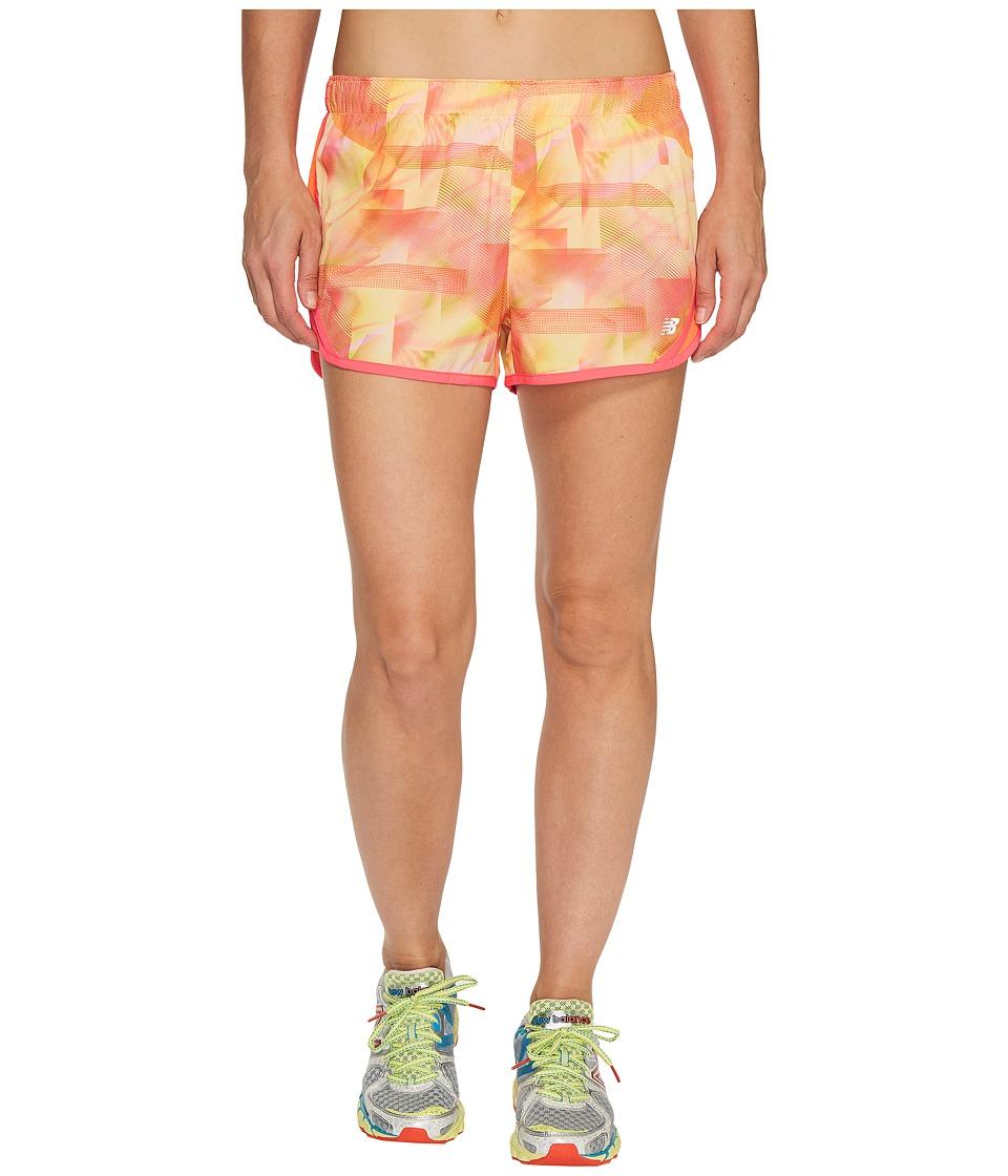 New Balance - Accelerate 2.5 Printed Shorts (Sunrise Cosmic Stripe) Women's Shorts