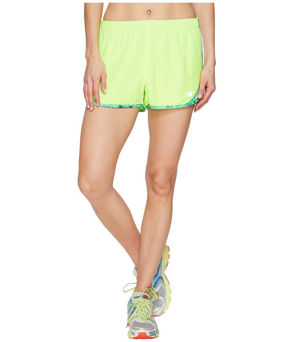 New Balance - Accelerate 2.5 Shorts (Lime Glo) Women's Shorts