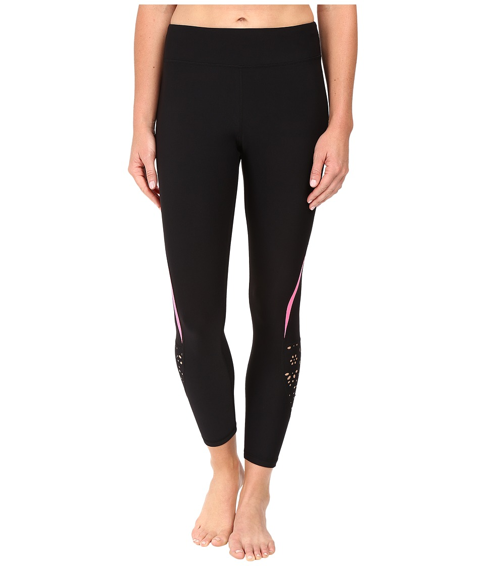 Fila - Show Tell 3/4 Tights (Black/Pink Panther/Pink Panther) Women's Casual Pants