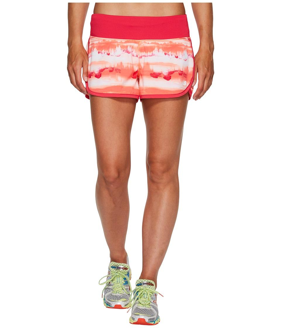 New Balance - Impact 3 Shorts Print (Sunrise Waves/Pigment) Women's Shorts